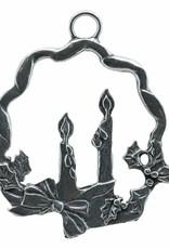 DTR Kersthanger krans met kaarsen
