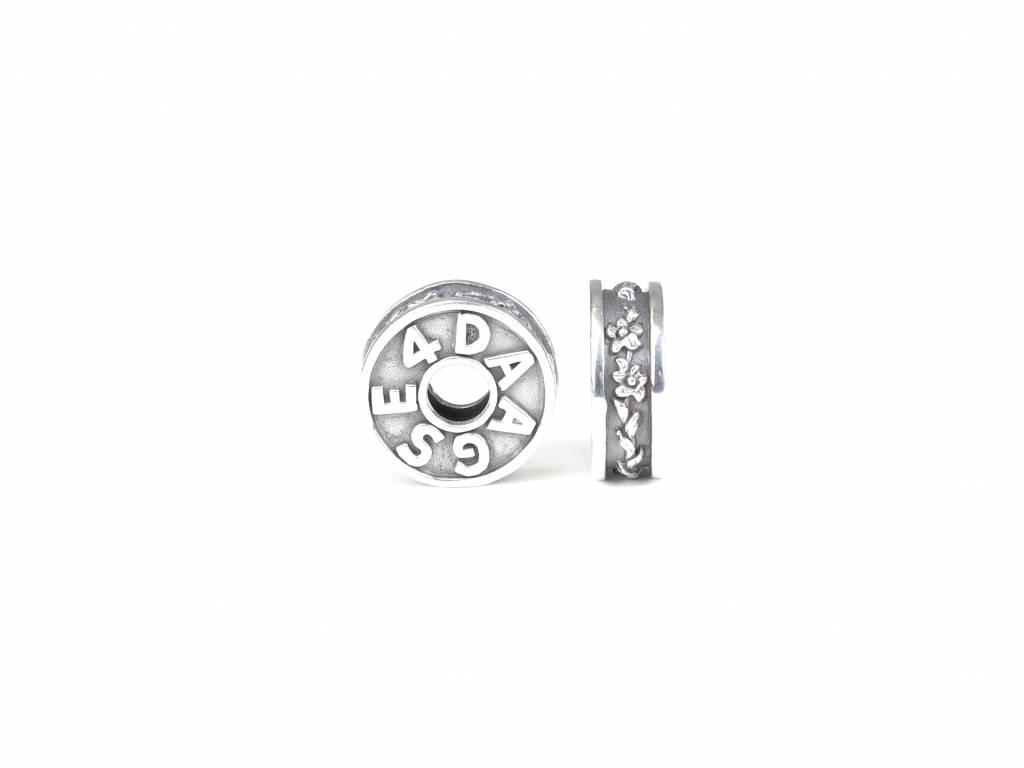 Vierdaagse Bedel Gladiool bedel (zilver)