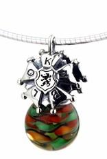 Vierdaagse Bedel Luxury pendant silver / murano glass