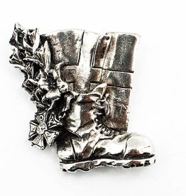 DTR Brooche walking shoe with flag - shiny