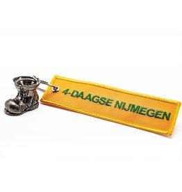 DTR Sleutelhanger schoentje Vierdaagse - oranje embleem