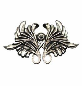 DTR Brooch Art Nouveau symmetry acanthusleaf