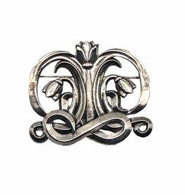 DTR Broche Art Nouveau symmetrie tulp