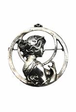 DTR Broche Art Nouveau vrouw Lente