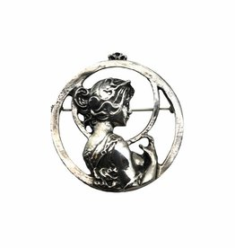 DTR Brooch Art Nouveau woman spring