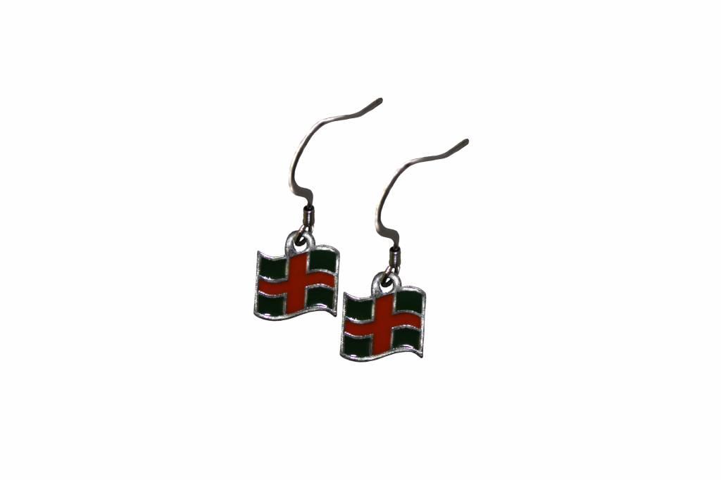 DTR Earrings Four Days Marches flag