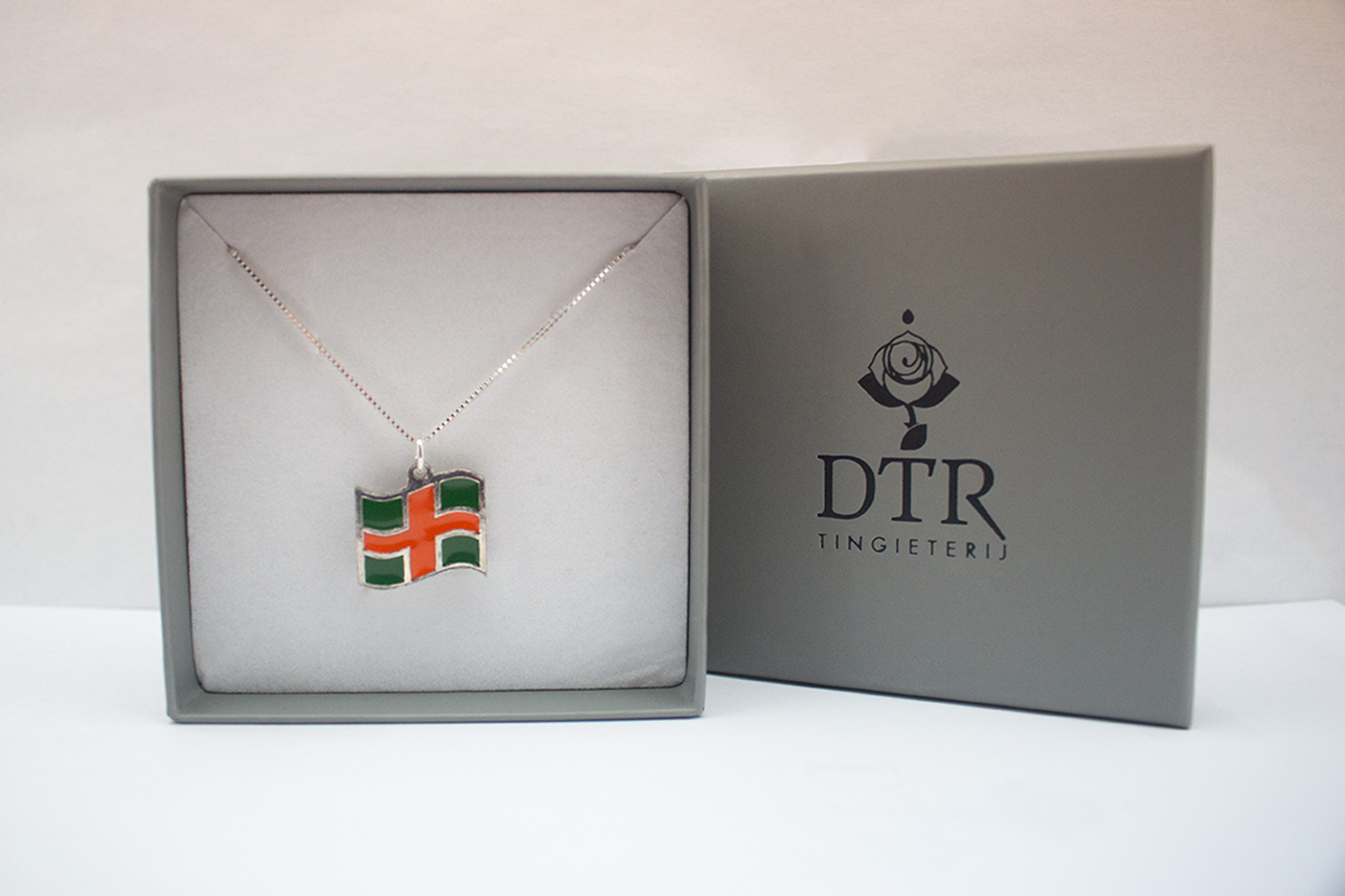 DTR Four Days Marches flag pendant with necklace