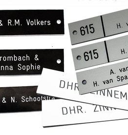 hourly rate placing nameplates / holders / signs