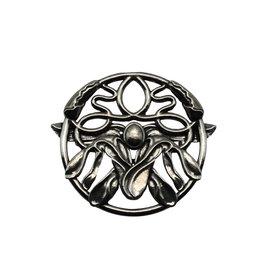 DTR Brooch Art Nouveau mistletoe
