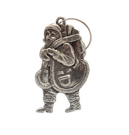 DTR Hanging Christmas ornament Walking Santa Claus