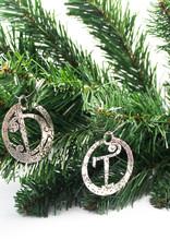 DTR Hanging Christmas ornament Walking Santa Claus