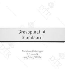 Name plates - NederWoon - z/w