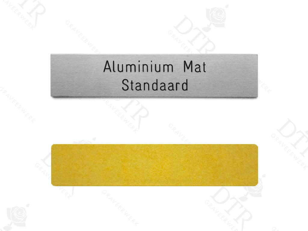 Naambordje aluminium 150x20