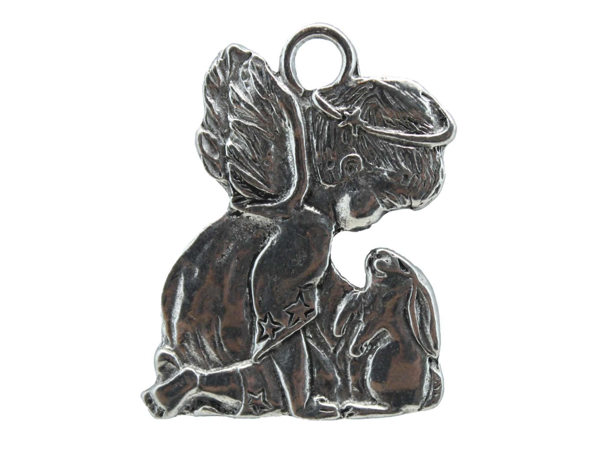 DTR Hanging ornament angel with hare