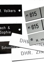Bord- wit/zwart 50x15cm