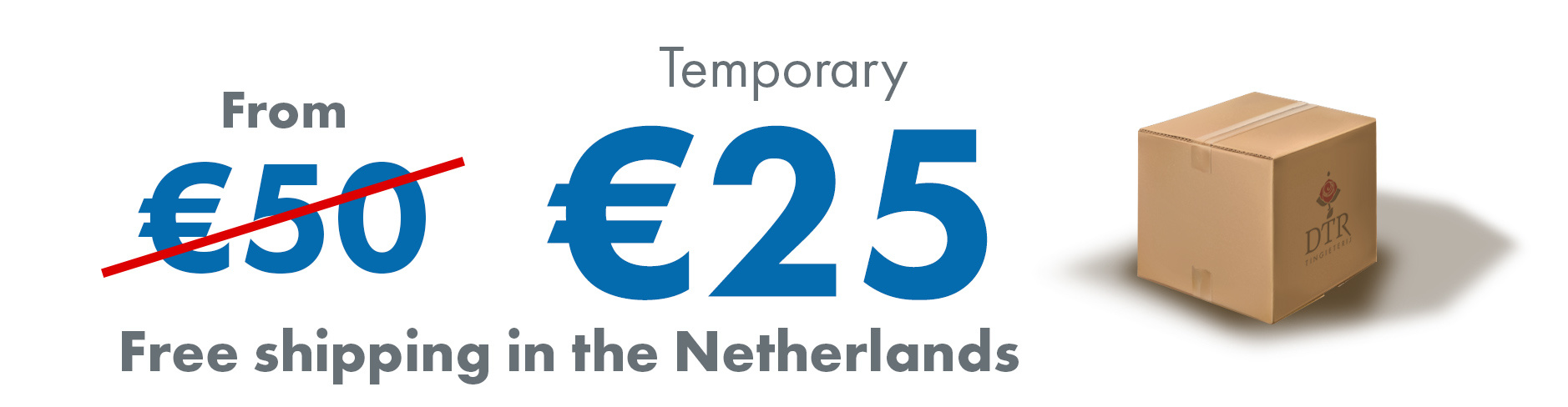 Temporary free shipping from 25 euro