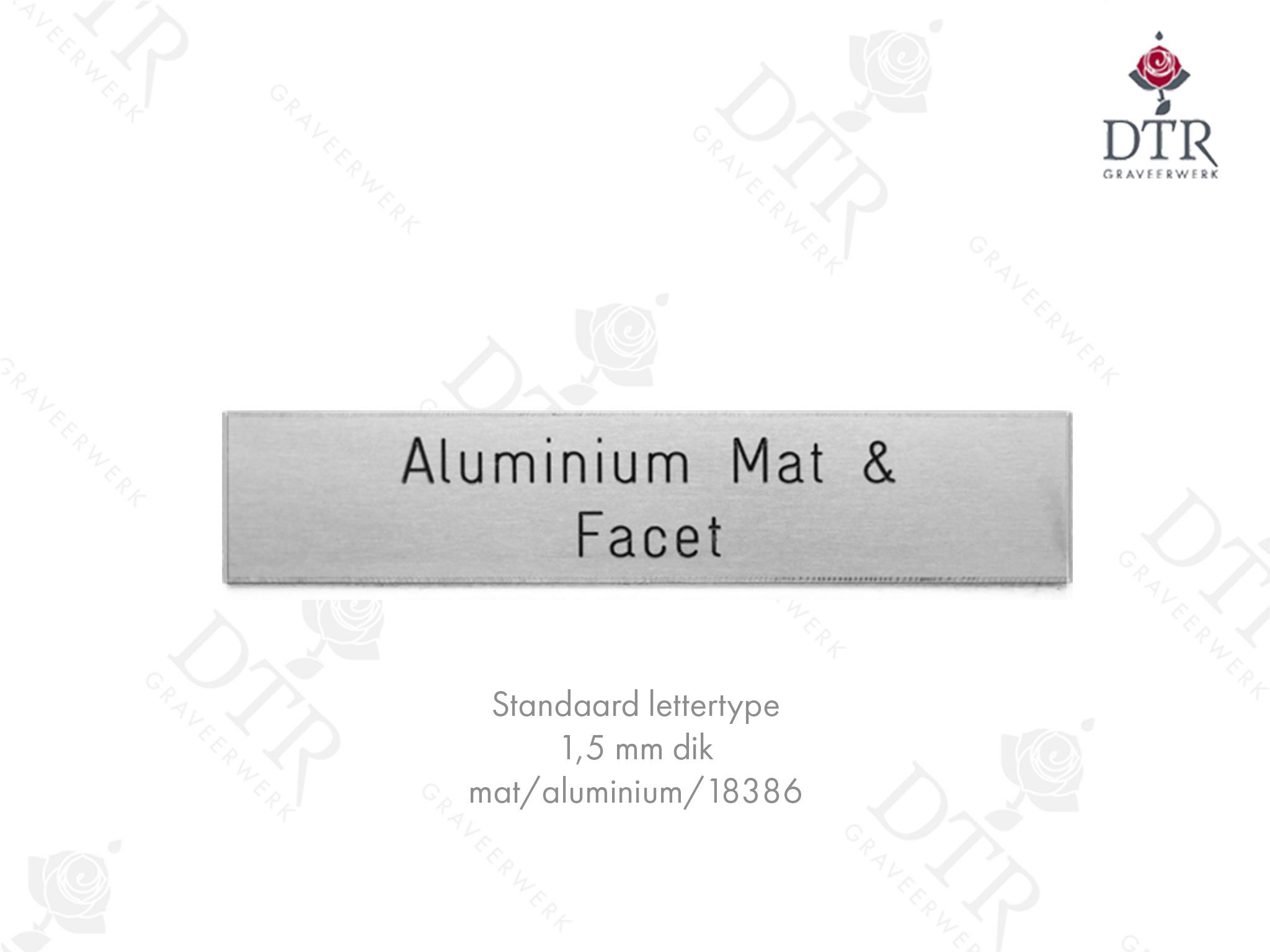 Blanco Aluminium plaat set van 2