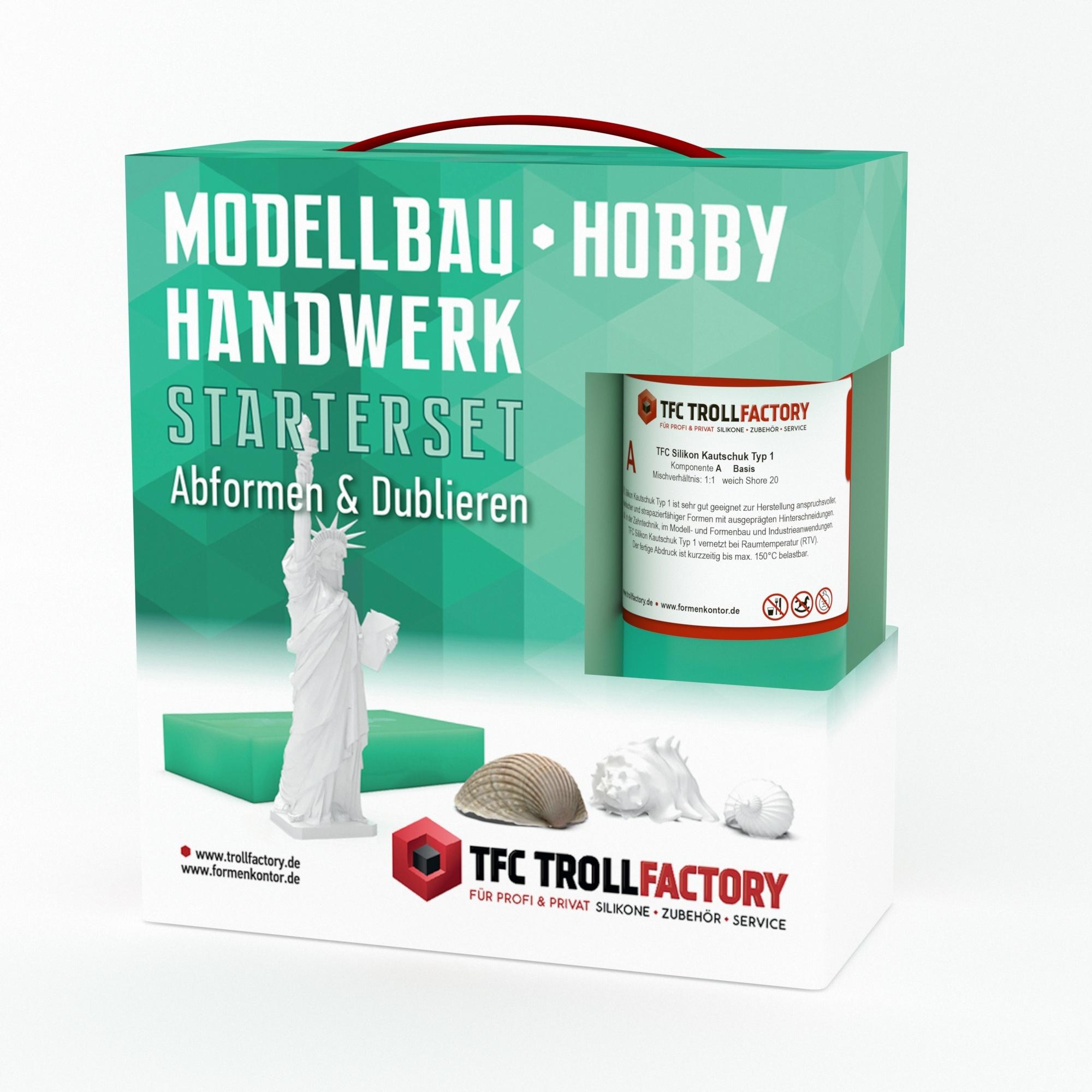 Troll Factory Starterset afvormen en dupliceren met siliconenrubber - klein