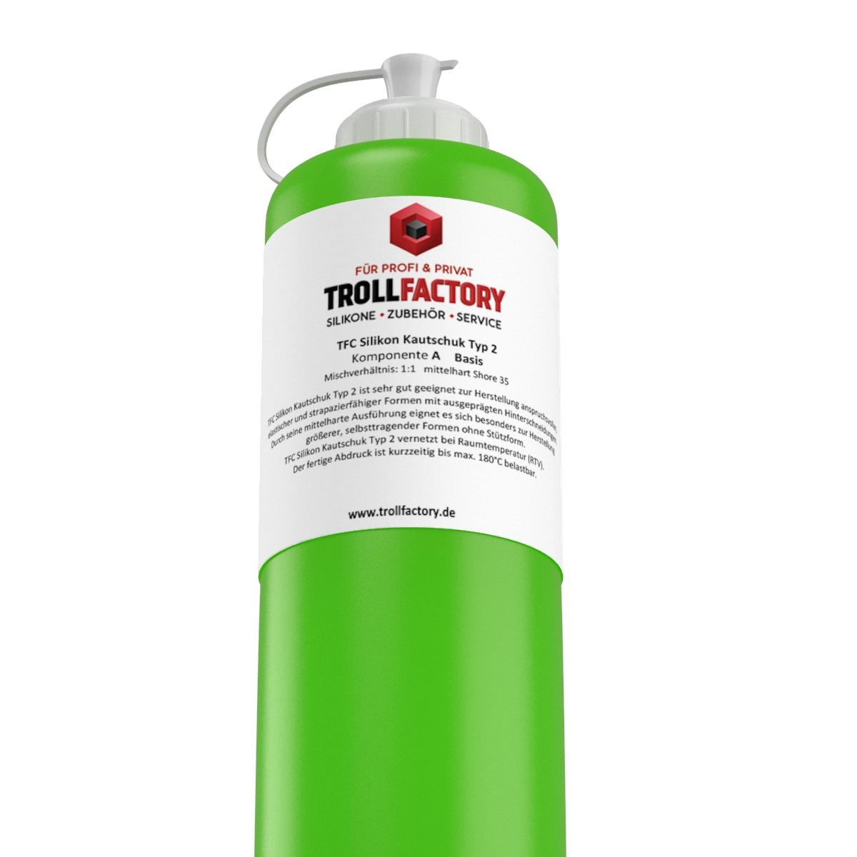 Troll Factory TFC Troll Factory Silicone Rubber type 2 Afvorm silicone 1000g