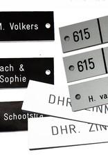 Naamplaat w/zw afmetingen  93x19x1.6 mm  - Copy