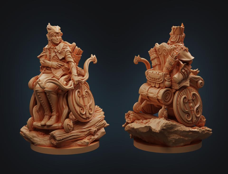 Strata Miniatures Dungeons and Diversity: Half Elf Ranger