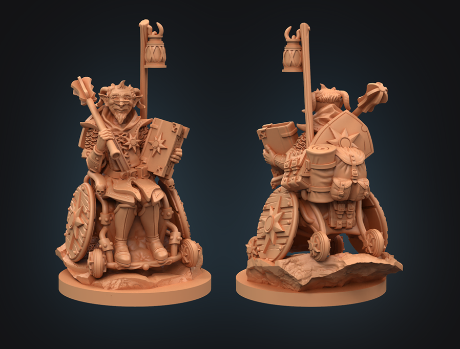 Strata Miniatures Dungeons and Diversity: Teifling Cleric