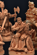 Strata Miniatures Dungeons and Diversity: Dwarf Barbarian