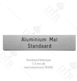 Naamplaatjes - Aluminium op maat blanco