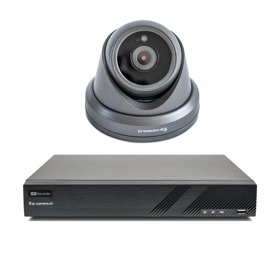 Beveiligingscamera set Premium Dome Zwart Sony 2MP Full Color Starlight Cmos