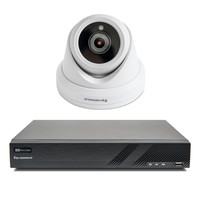 1x Premium Dome Beveiligingscamera set met Sony 2MP Starlight Cmos