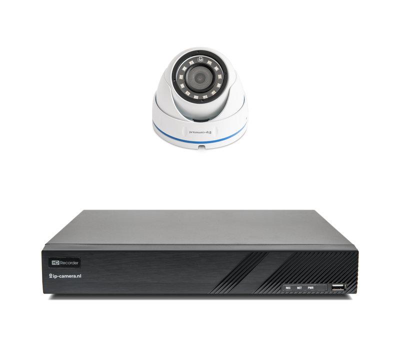 1x Basic Dome Beveiligingscamera set met Sony 2MP Cmos