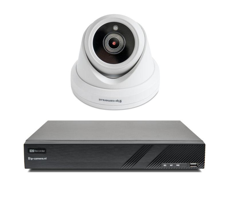 1x Premium Dome Beveiligingscamera set draadloos met Sony 2MP Starlight Cmos