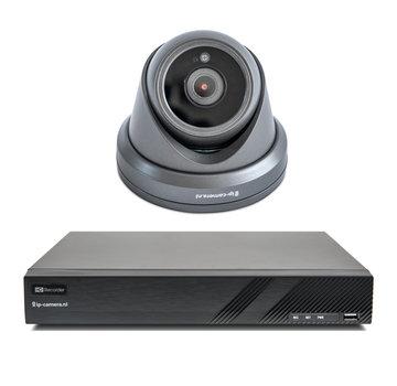 Draadloze camera set Premium dome zwart Sony 2MP full color starlight Cmos