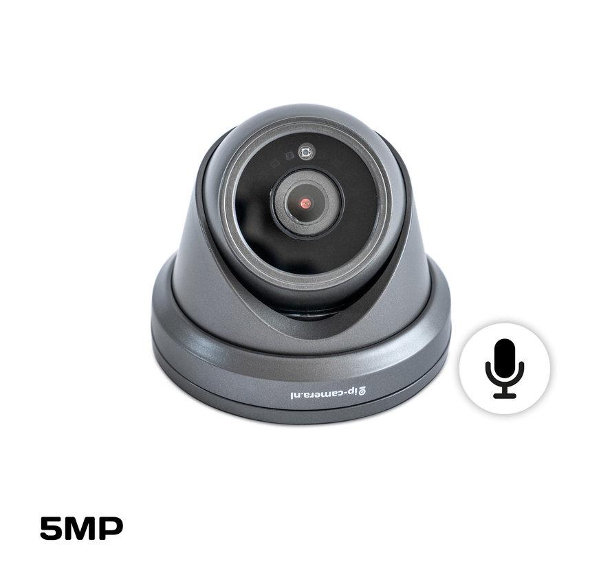 Draadloze camera set Pro dome zwart Sony 5MP full color starlight Cmos en microfoon