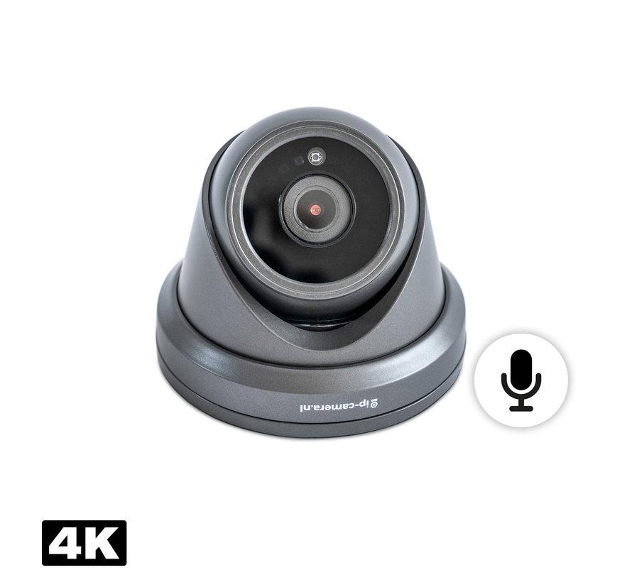 4K draadloze camera set dome zwart met Sony 8MP Cmos en microfoon