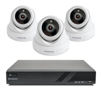 Beveiligingscamera set Premium Dome Sony 2MP Full Color Starlight Cmos