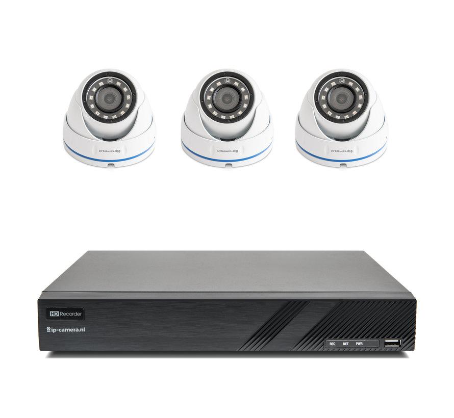 Draadloze camera set Basic dome met Sony 2MP Cmos