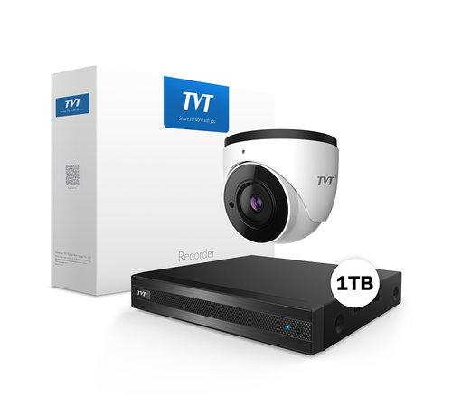 TVT4000 Starlight 4MP Dome Bewakingscamera set met geluidsopname