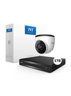 TVT2000 Starlight 2MP Dome Bewakingscamera set met geluidsopname
