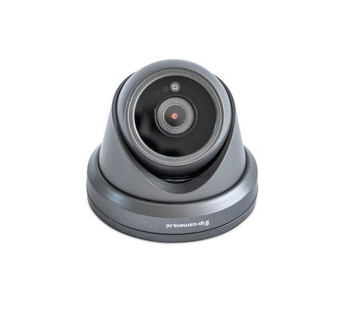 4K Beveiligingscamera dome zwart met Sony 8MP Cmos en microfoon