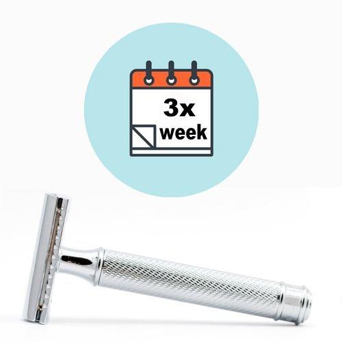 3x wöchentlich Rasur