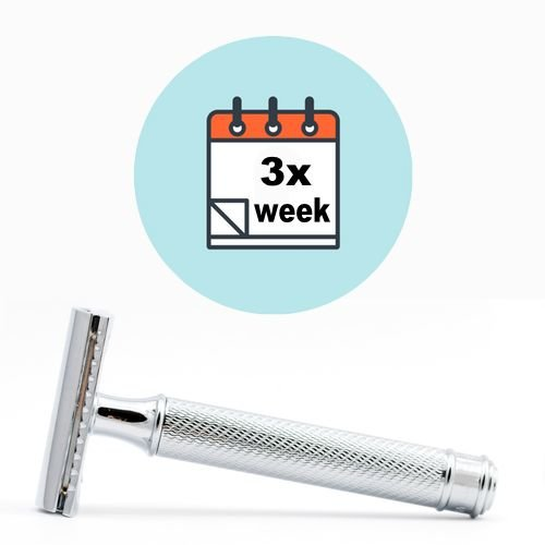 Shave 3 times a week