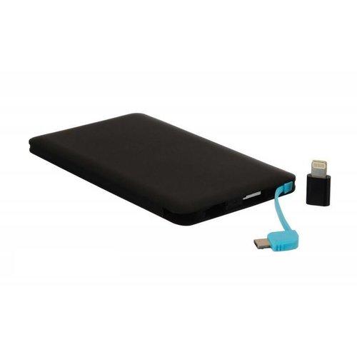 Grab n Go Powerbank inclusief Micro USB en Apple Connector