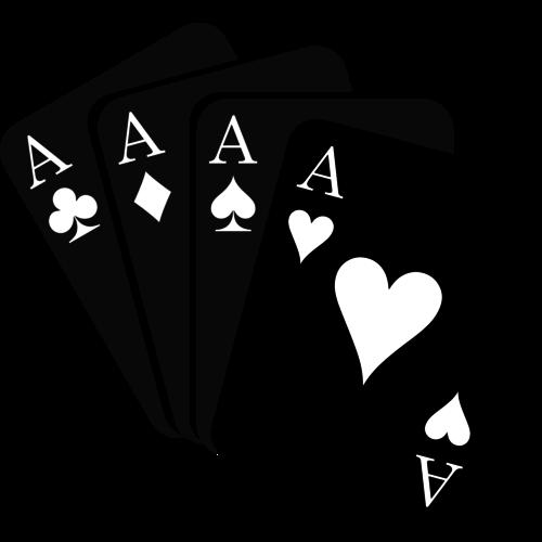 Poker und Bridge Spielkarten