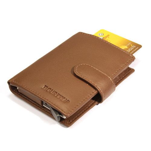 Figuretta Figuretta Leren Creditcardhouder met RFID bescherming