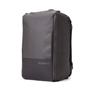 NOMATIC Backpack / Travel bag with laptop compartment, shoe compartment. Hand luggage size - 40 Liter - Black