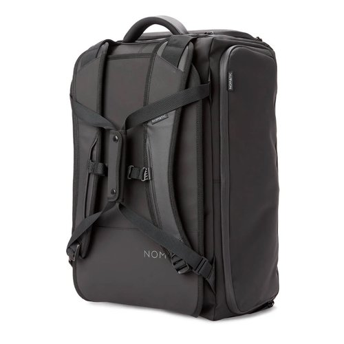NOMATIC Backpack / Travel bag with laptop compartment, shoe compartment and various accessories. Hand luggage size - 40 Liter - Black