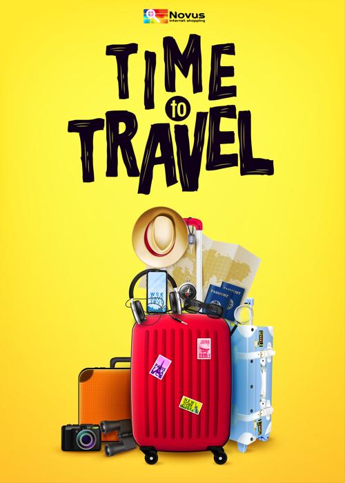 Afbeelding met koffers en reisbenodigdheden