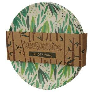 Bambootique Bamboe bord - Set van 4 borden