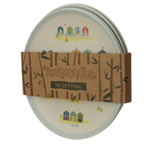 Bambootique Reusable Bamboo Plates - Set of 4 plates